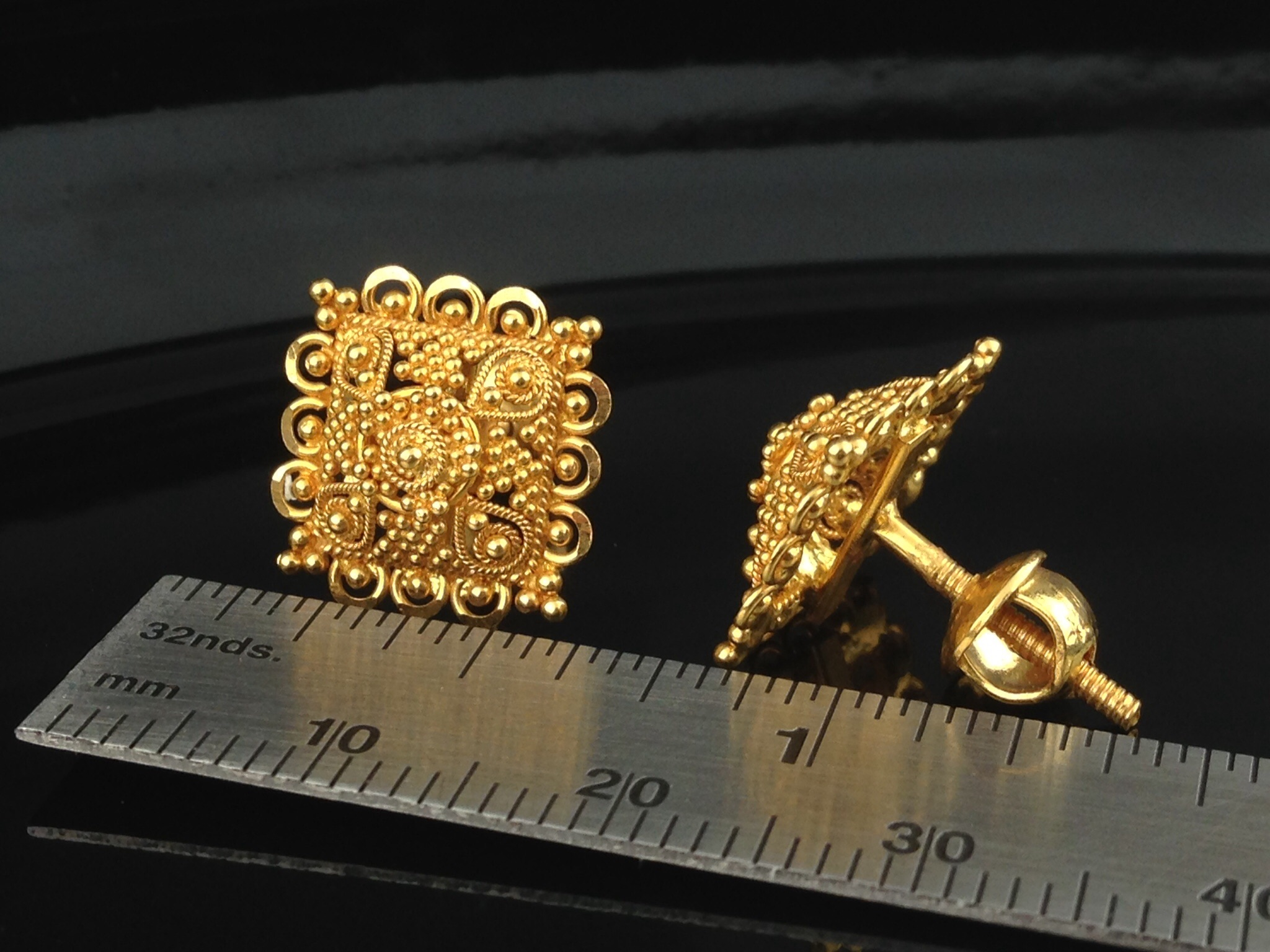 earrings inspirational new of stud kumaran pink gold bis hallmark thangamaligai yellow sree