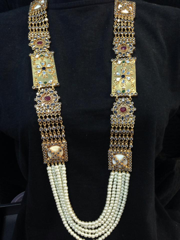 Beautiful Kundan Mala Necklace And Earrings Set Indian