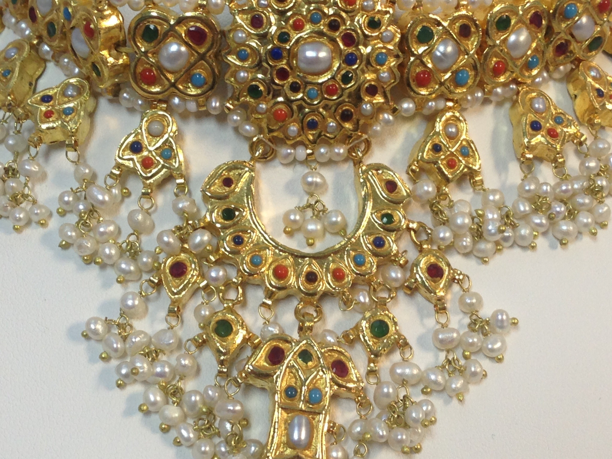 Hydrabadi Kundan Double Side Dholna Set Indian Kundan