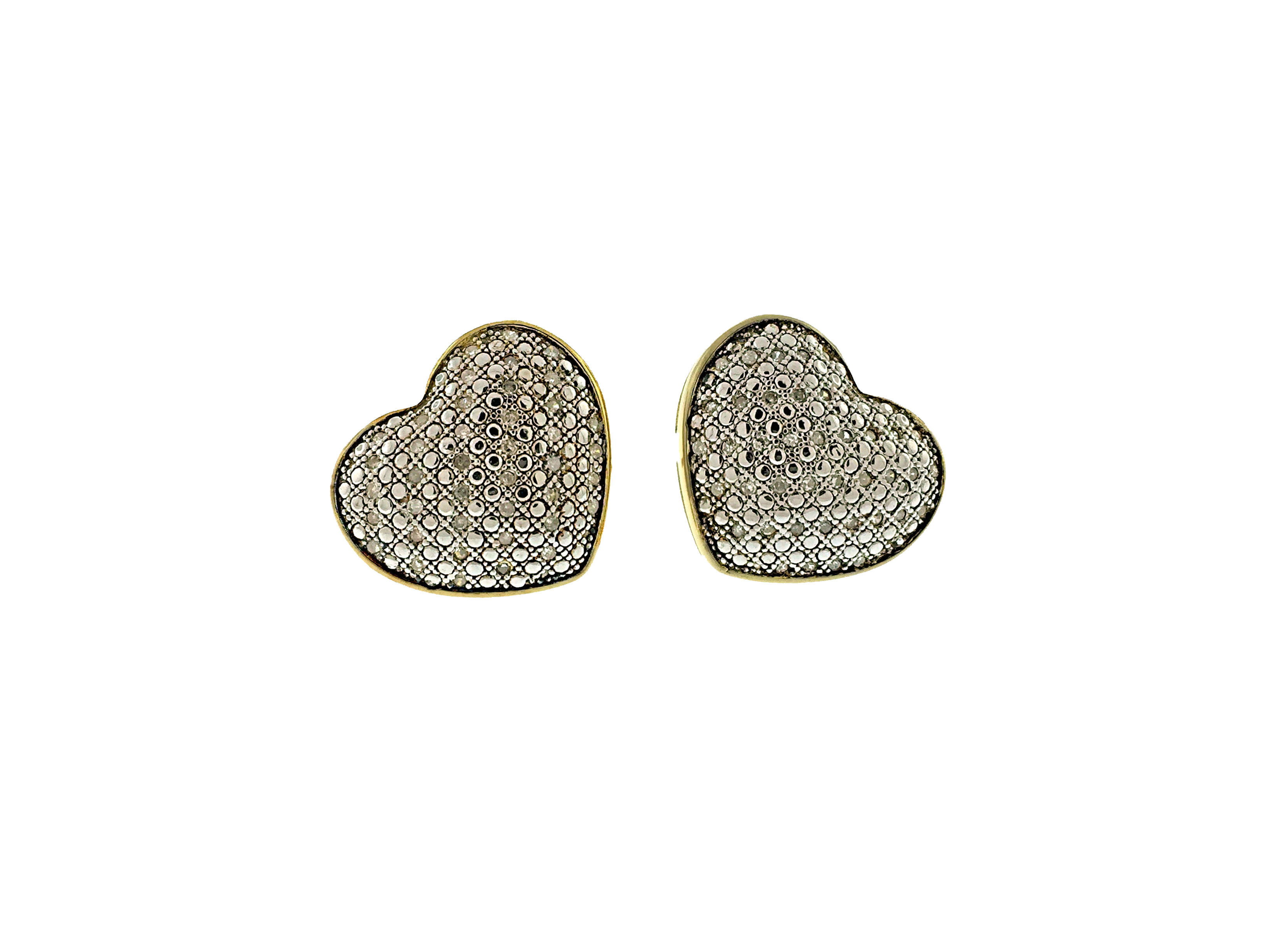 earrings gold jewellery shaped chopard on fine clip vintage shape sku diamond heart and white modern