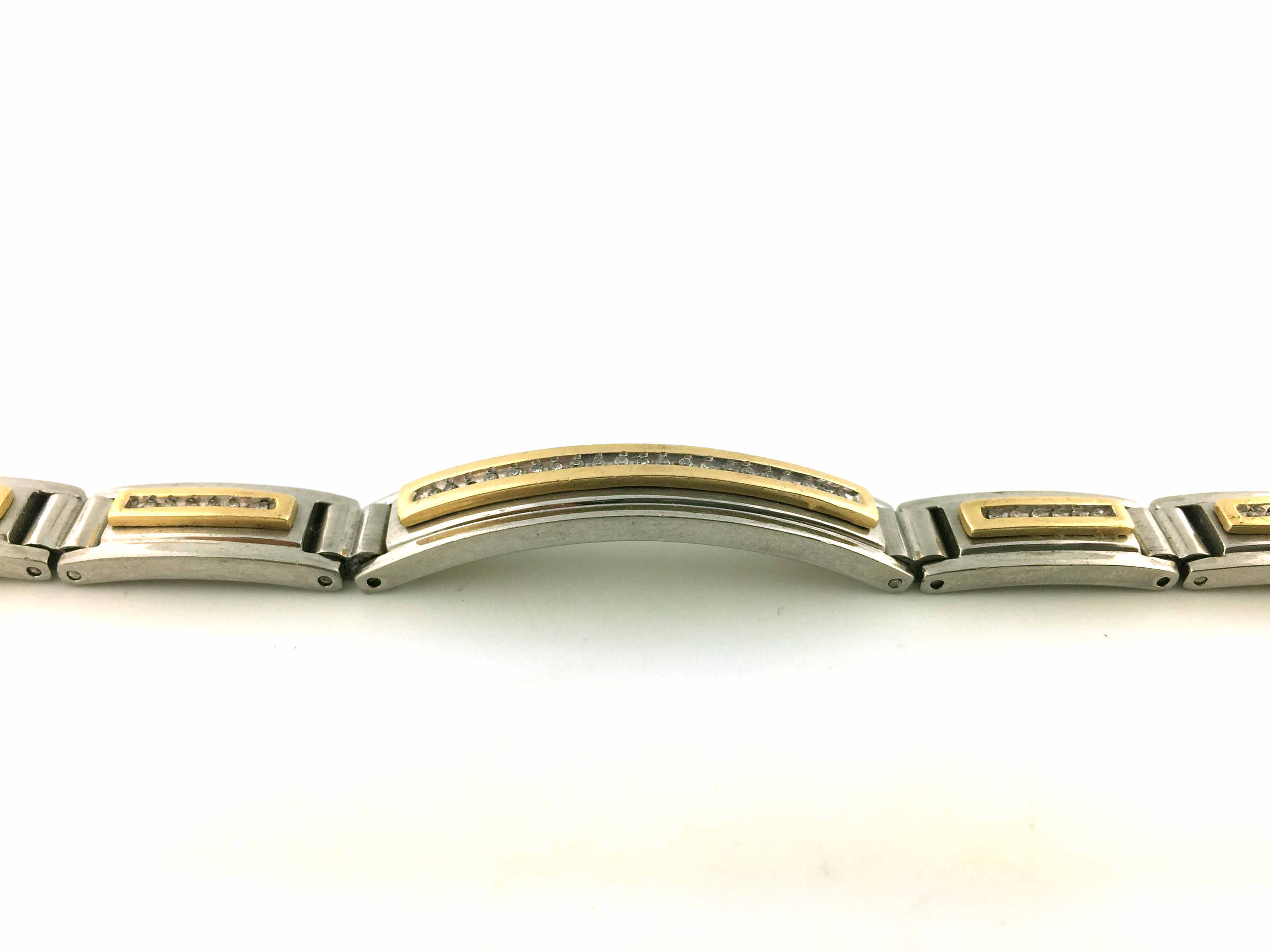 e145c49ff601ff 14K Two Tone Gold and Steel Mens Diamond Bracelet 1.0ct. Style No.: SJB0013  Price : $899.99
