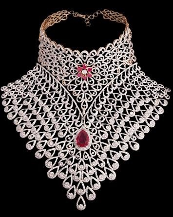 American Diamond Bridal Set With Rubies Indian Kundan