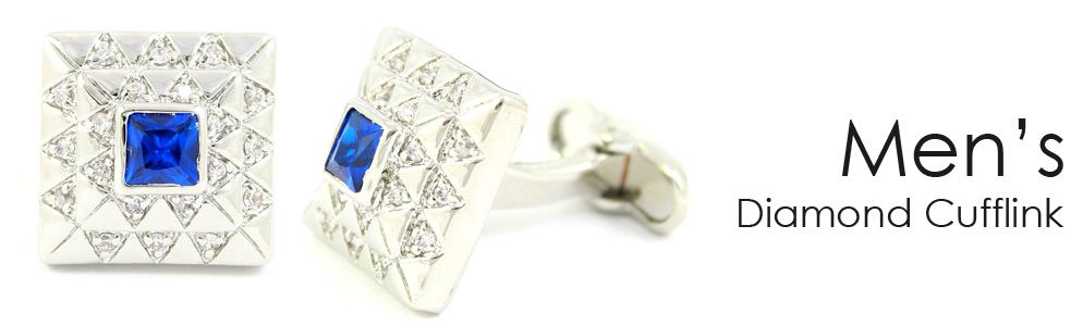 Men's Daimond Cufflinks